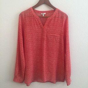 Joie Tops - Joie Silk Top Marsher Blouse In Fiery Red l